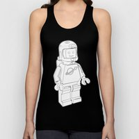 Vintage Lego Spaceman Wireframe Minifig Unisex Tank Top