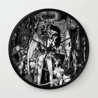 In Hell we are the cockroaches Wall Clock