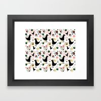 BlackBirds and Fullbelly Snakes Framed Art Print