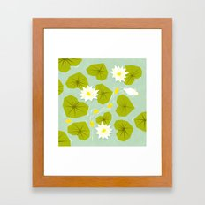 Through the maze of lilies Framed Art Print