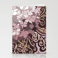 Hortensia autumn Stationery Cards
