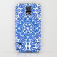 Cobalt Blue & China Whit… Galaxy S5 Slim Case