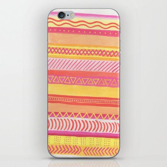 Tribal#1 (Orange/Pink/Yellow) iPhone & iPod Skin