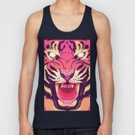 Cool Angry Tiger Unisex Tank Top
