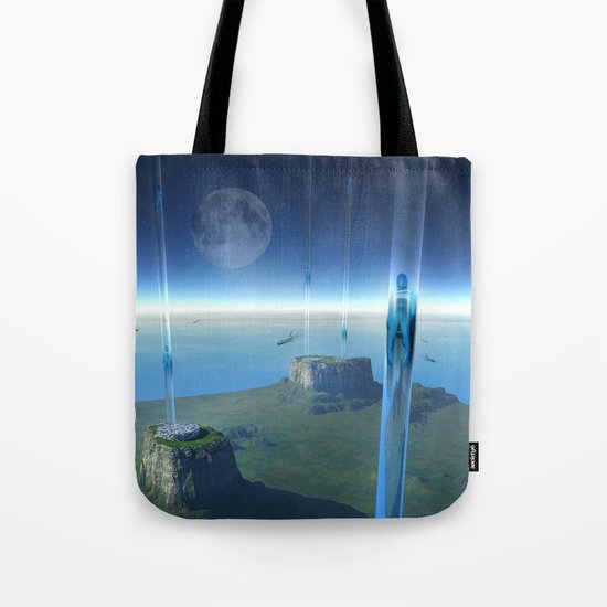 space elevator - babylon transfer station  Tote Bag
