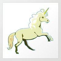 Unicorn at a Canter Art Print