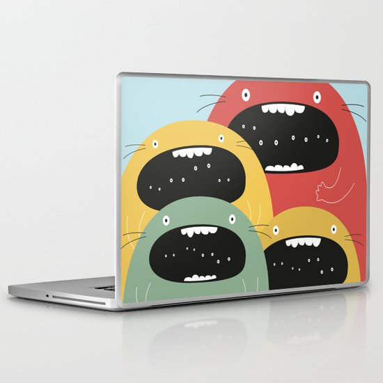 Monster gang. Laptop & iPad Skin