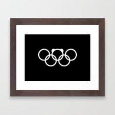 Olympic games logo 2014. Sochi. Bear. Framed Art Print