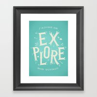 J'adore de Explore Framed Art Print