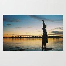 Female Body in the Amazon River Rug