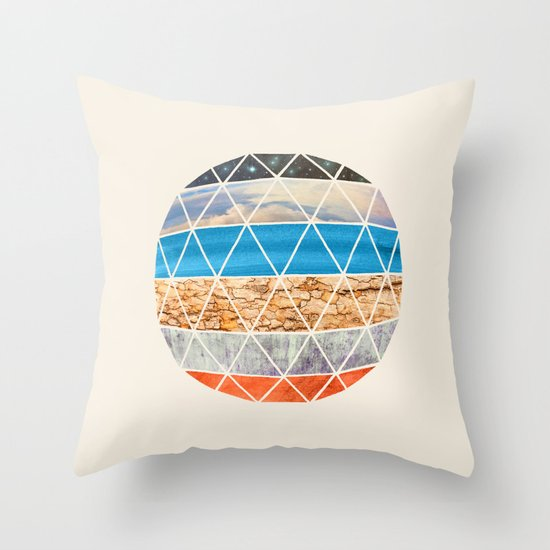Eco Geodesic  Throw Pillow
