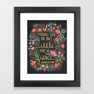 Framed Art Print featuring Little & Fierce On Charc… by Cat Coquillette