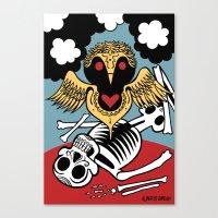 Búho De La Muerte Canvas Print