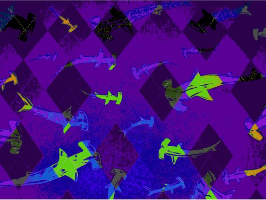 Argyle Frenzy in Amethyst Art Print