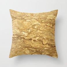 Breccia Sarda Marble Throw Pillow
