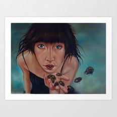 My beees Art Print