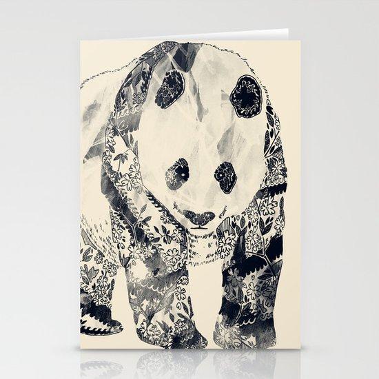 Tattooed Panda {cream} Stationery Card