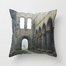 Gloomy Abbey Throw Pillow