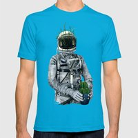 Cacti   Spaceman No:1 Mens Fitted Tee Teal SMALL
