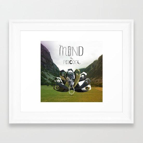 Mind the Peacock! Framed Art Print