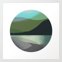 Calm Marble Landscape Art Print