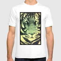 Be A Tiger (Yellow) Mens Fitted Tee White SMALL