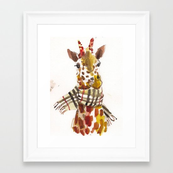 Longneck Framed Art Print
