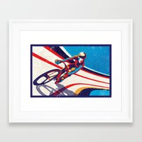 retro track cycling poster print G Force Framed Art Print