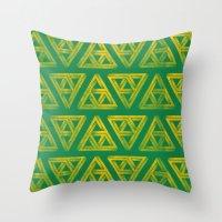 Penrose Triforce Pattern Throw Pillow