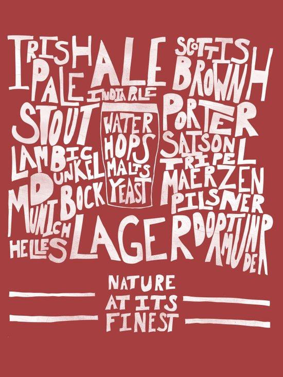 Beer : Red Art Print