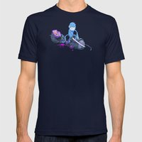 Samurai Monkey Mens Fitted Tee Navy SMALL