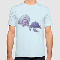 Sea Turtle Mens Fitted Tee Light Blue SMALL