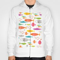Rainbow Fish Print Hoody