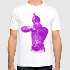 Pink Soldier SMALL White Mens Fitted Tee