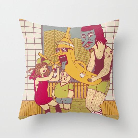 WTF Maranza Banana ? Throw Pillow