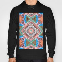 Textured Abstract Tile Pattern Hoody