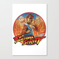 Fighting Street Canvas Print