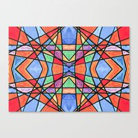 mexican stained glass Canvas Print