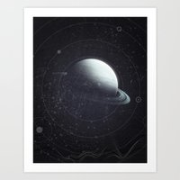 Space Sound Waves Art Print