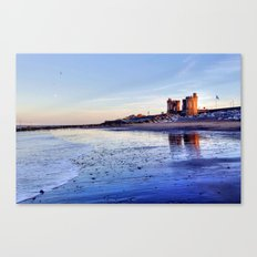 Withernsea Sunset and Moon Canvas Print