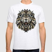 Lion Mens Fitted Tee Ash Grey SMALL