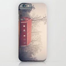 Little Red Barn in the Fog iPhone 6s Slim Case