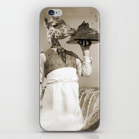 giraffe waiter  iPhone & iPod Skin