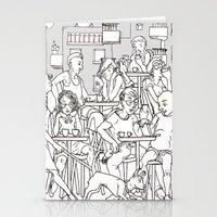 Coffee Scene Stationery Cards