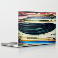 music Laptop & iPad Skins featuring put your records on by Bianca Green