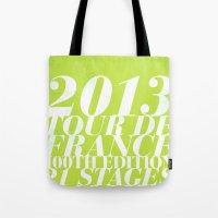2013 Tour de France: Sprint!  Tote Bag