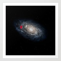 We Are Here! Galactic Lo… Art Print