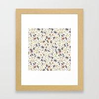 Colorful Floral Pattern Framed Art Print