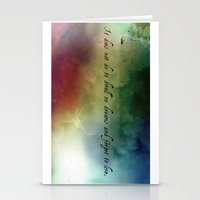 V2:It does not do to dwell on dreams Stationery Cards