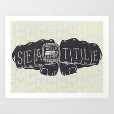 Seattle Seahawks Super Bowl World Champs Art Print
